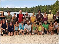 The cast of US TV show Survivor