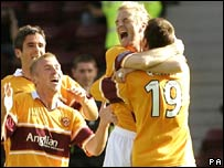 Brian Kerr scored Motherwell's third with a 25-yard drive