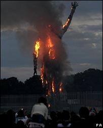 Burning Waste Man