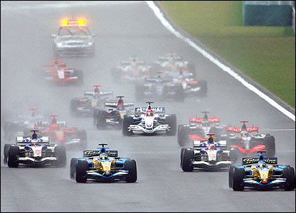 The start of the Chinese Grand Prix