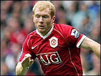 Manchester United midfielder Paul Scholes