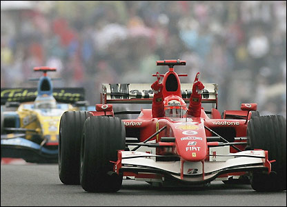 Schumacher wins the Chinese Grand Prix