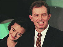 Cherie and Tony Blair in 1994