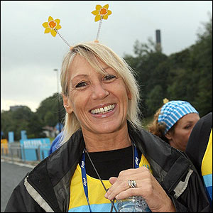 Ingrid Tarrant relaxes at the start
