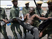 Protester arrested in Lusaka, Zambia