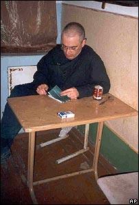 Mikhail Khodorkovsky, pictured in a Siberian prison camp