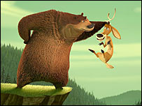 Boog the bear and Elliot the mule deer, from the film Open Season