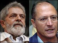 Inácio Lula Da Silva (izq.) y Geraldo Alckmin