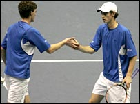 Jamie and Andy Murray in Bangkok