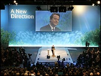 David Cameron speaks at the Conservative Party conference