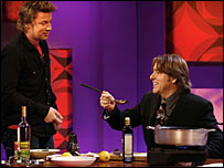 Jamie Oliver and Jonathan Ross