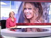 Beyonce on news bulletin