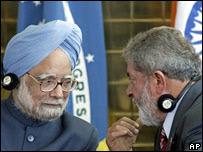 Manmohan Singh y Lula da Silva.