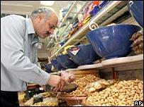 A shopkeeper in Tehran