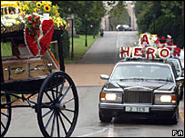 The funeral of Peter Woodhams