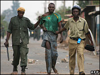 Rioter arrested in Zambia
