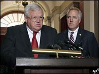House Speaker Dennis Hastert and Republican Senator John Shimkus