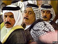 Iraqi tribal leaders at a Sunni-Shia meeting