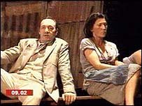 Kevin Spacey and co-star Eve Best