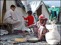 Camp in Muzaffarabad