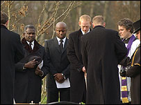 Funeral scene from EastEnders