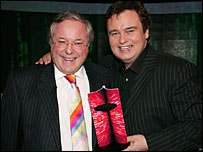 Richard Whiteley and Eamonn Holmes
