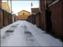 Back alley where abducted girl was found