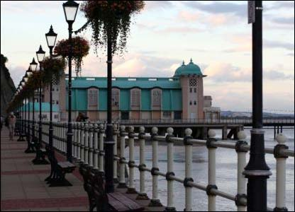 Christine Lewis took this view of Penarth pier with people enjoying an evening stroll