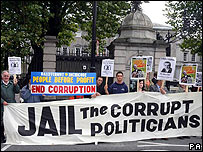 People Before Profit group outside the Dail in Dublin
