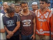 Asif Hossain Khan (left) after the confrontation
