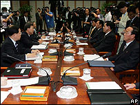 Talks between South and North Korean delegates July 2006