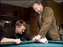 Leonardo DiCaprio and Ray Winstone in The Departed