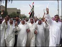 Iraqis protests against recent killings in Baghdad on 3 October 2006