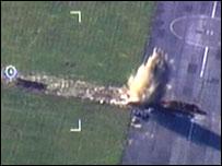 Mine detonated at HMS Daedalus