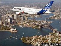 A380 test flight in Australia
