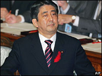 Shinzo Abe in Parliament 3/10/06