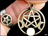 The pentacle - a five-pointed encircled star - is an important Wicca spiritual symbol