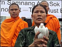 Mother of Born Samnang marked the anniversary of his trial on 1 August 2006