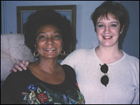 Sue Nelson with Nichelle Nichols (aka Lt Uhura) in 1996
