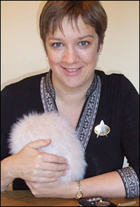 Sue Nelson and Tribble