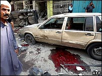 Aftermath of bombing in Baghdad
