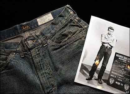 James Dean's jeans from Giant on display