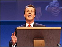 David Cameron, leader of the Conservatives