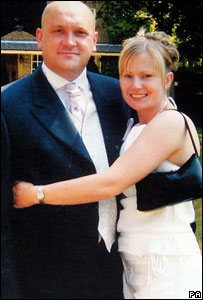 Darren Bull with his partner, Julie Hensby