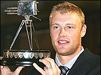 Sports Personality 2005 winner Andrew Flintoff
