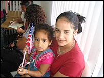 Karenina Sánchez y su hija Hellen