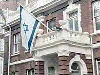 The Israeli embassy in London