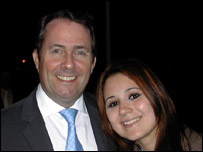 Victoria with Liam Fox MP