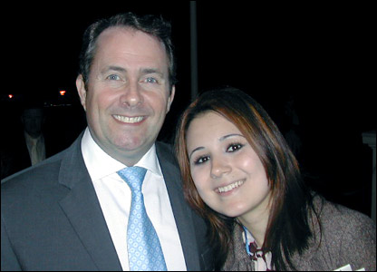 Victoria meets Liam Fox MP
