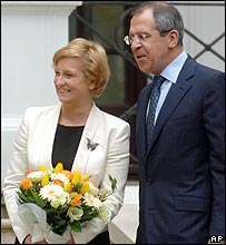 Polish Foreign Minister Anna Fotyga and Russian counterpart Sergei Lavrov
